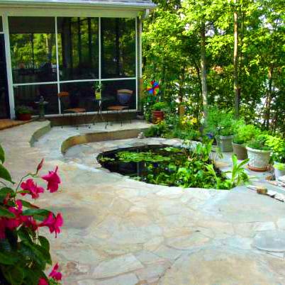 Ecoidea bologna realizzazione di fontane e laghetti da for Costruire laghetto da giardino